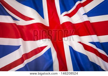Union Jack Flag. Close-up of the national flag of Great Britain.