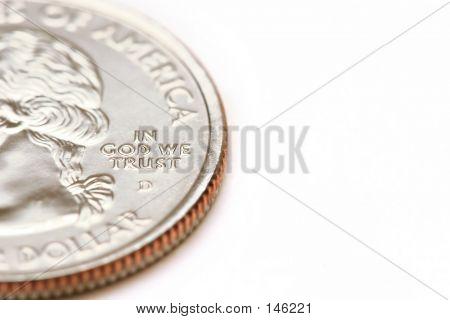 Macro de dólar americano da trimestre - em Deus que nós confiamos