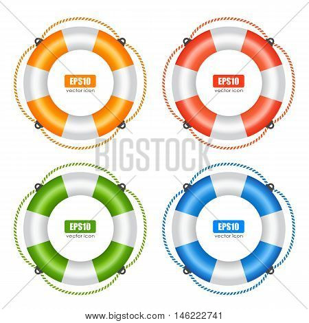 Life buoy preserver vector illustration isolated on white background