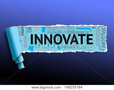 Innovate Word Means Creativity Reorganization And Innovation