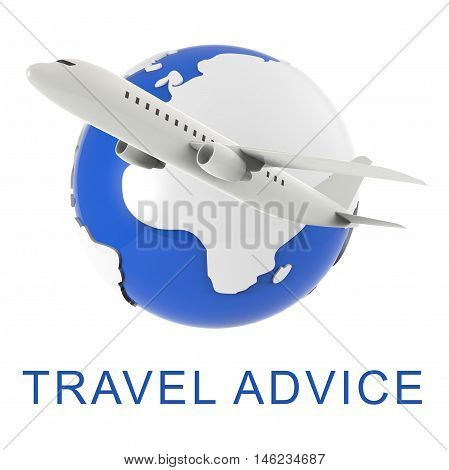 Travel Advice Indicates Touring Guide 3D Rendering