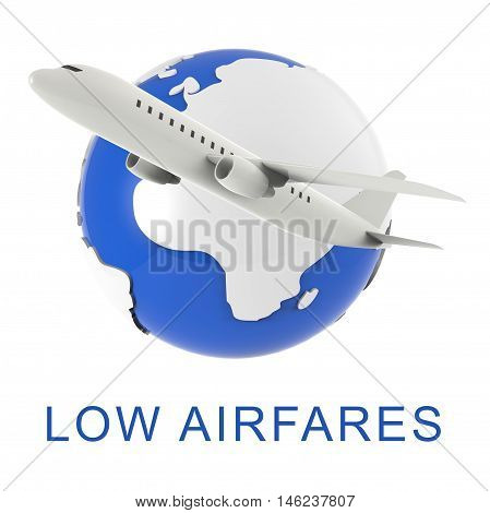 Lowest Airfares Means Cheapest Flight 3D Rendering