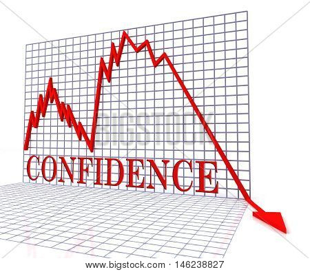 Confidence Graph Negative Means Faith Downturn 3D Rendering
