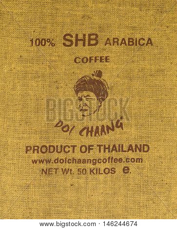 CHIANGRAI THAILAND - JULY 20 : Brand coffee