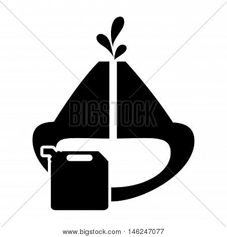 flat design oil reservoir and fuel canister icon vector illustration