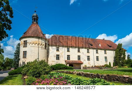Jaunpils castle, Latvia. It is one of the rare medieval castles in Latvia that has preserved its historical look. Nowdays it is a public museum