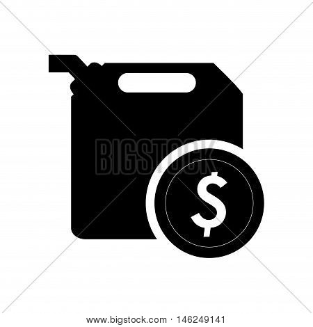 flat design fuel canister and coin icon vector illustration