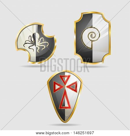 Shield of the Templar, icons in the form of shields