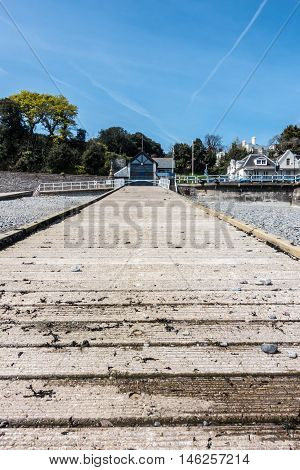 One of the slipways of the Victorian seaside town Penarth.