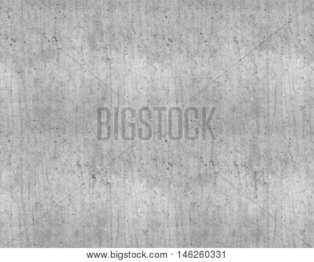 Seamless grey smooth new concrete wall texture.