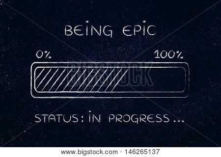 Being Epic Progress Bar Loading