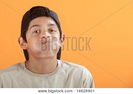 Boy Holding His Breath