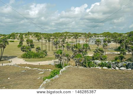 A beautiful view of Tulum ruins, MEXICO.