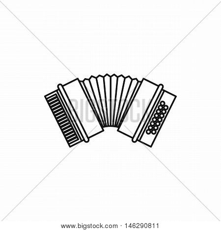 Accordion in outline style isolated on white background vector illustration