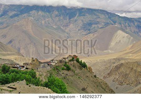 Kali Gandaki Valley Above Jomson: Jharkot Village