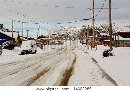 El Chalten Covered With Snow