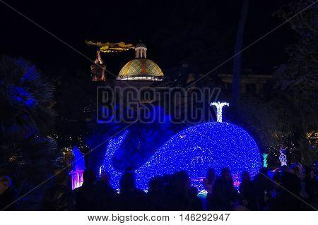 Christmas Lights Of Salerno, Pinocchio And The Whale
