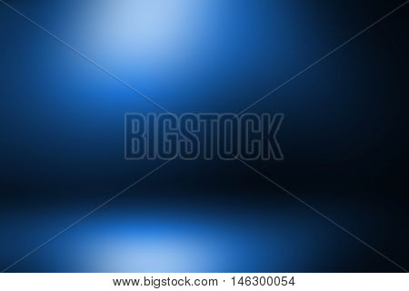 Empty room studio dark blue gradient background / used for display your product or background