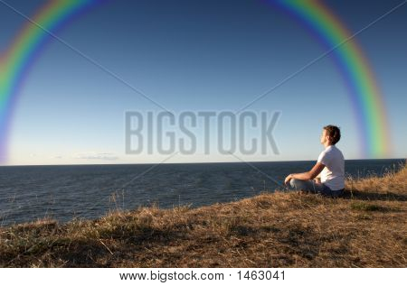 Meditation With Rainbow
