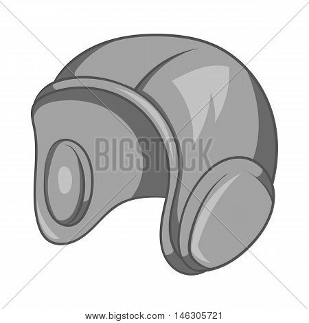 Caps for water polo icon in black monochrome style isolated on white background. Sport symbol vector illustration