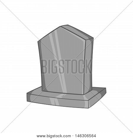 Sepulchral monument icon in black monochrome style isolated on white background. Death symbol vector illustration