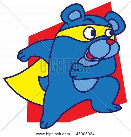 Super bear of vector art illustration design