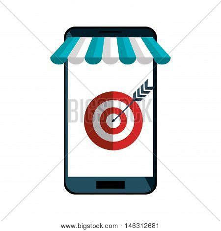 e-commerce smartphone shop online design vector illustration eps 10