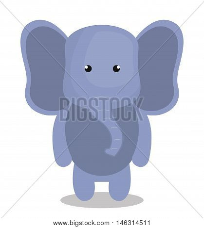 cartoon elephant animal plush stuffed design vector illustration eps 10