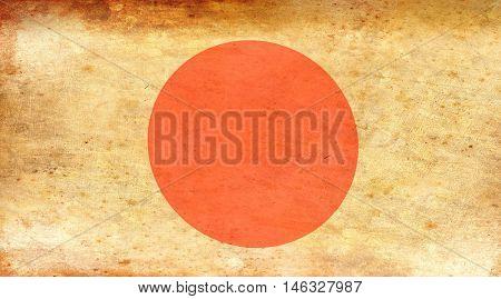 Full-frame shot of Japanese flag