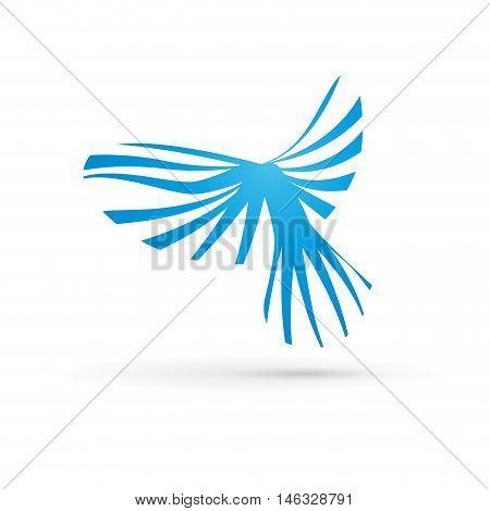 Vector sign bird in flight, isolated illustration