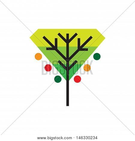 Vector sign organic farming, abstract Greengrocer concept