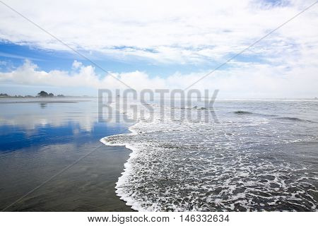 Coastline View In Westport Of New Zealand.