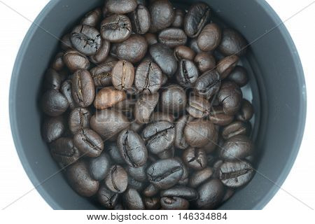Coffee Beans Isolated In White Background