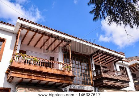 Photo Picture of the Classic Style Canarian Wooden Balcony