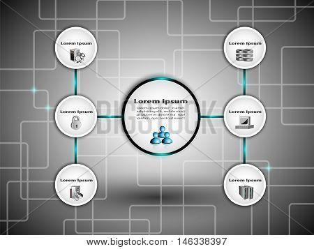 Technology and Business process infographics with icons