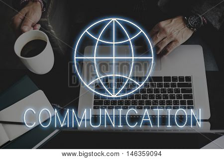 Internet Webpage Global Communication Network Concept