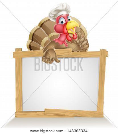 Chef Hat Turkey Sign