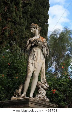 Statue in Achillion Palace Korfu