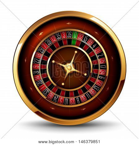 volume image Casino roulette on a white background