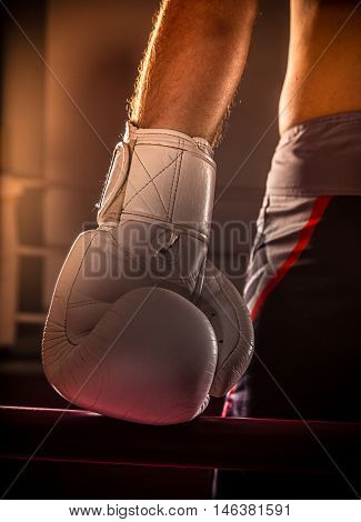 boxing match, close-up photo.
