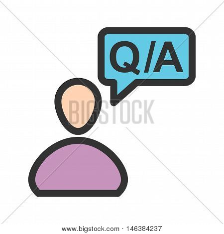 Question, answer, call icon vector image. Can also be used for customer services. Suitable for web apps, mobile apps and print media.