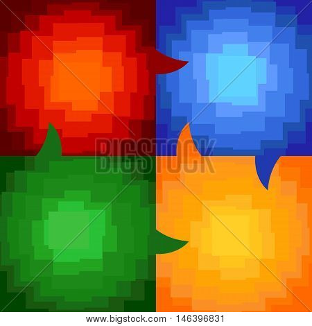 Babble design square geometry interesting background main color interaction
