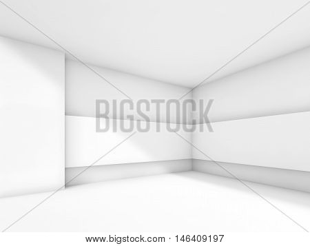 Abstract Contemporary White Empty Room