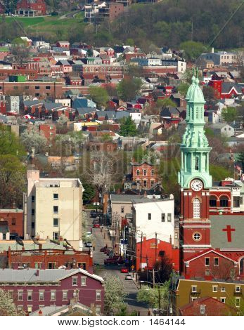 Aerial View Covington Kentucky Usa