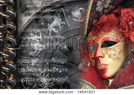 Venetian Mask composition