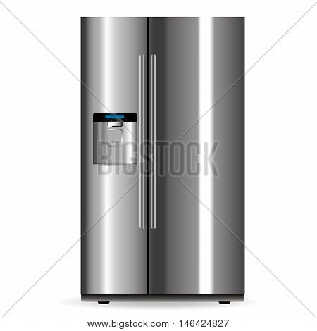 Vector Silver Fridge