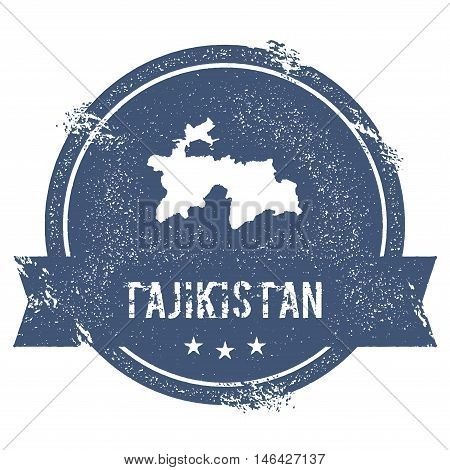 Tajikistan Mark. Travel Rubber Stamp With The Name And Map Of Tajikistan, Vector Illustration. Can B