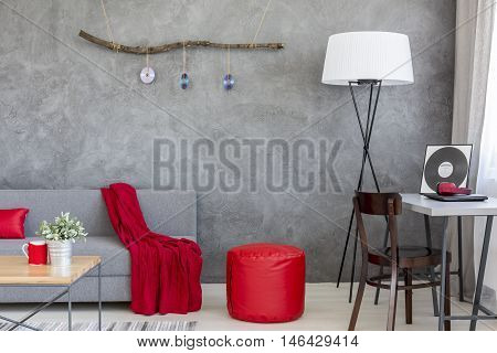 Dominant Role Of Grey And Red In Stylish Interior Decor