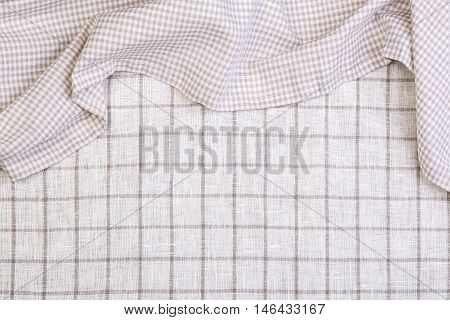 the tablecloth on tablecloth backgroundcrumpled fabric background
