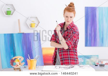 Looking For Inspiration For Her Art Work